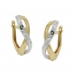 Mobile Preview: Creole bicolor diamantiert 9Kt GOLD -431413