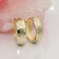 Mobile Preview: Creole, bicolor diamantiert, 9Kt GOLD -431441
