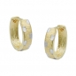 Preview: Creolen 13x4mm Klappscharnier bicolor diamantiert 9Kt GOLD