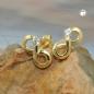 Ohrstecker 9x5mm Zeichen Unendlichkeit mit Zirkonia GOLD 9Kt