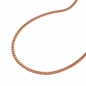 Preview: Kette Panzerkette 1mm 14Kt Rotgold 50cm