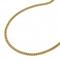 Preview: Kette Panzerkette 1,3mm 9Kt GOLD 42cm -501401-42