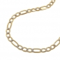 Preview: Kette, 45cm, Figaro-Panzer, bicolor, 14Kt GOLD -510003-45