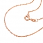 Preview: Kette 1,1mm Ankerkette 14Kt Rotgold 45cm