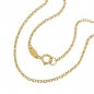 Preview: Kette 1,3mm Ankerkette 9Kt GOLD 45cm