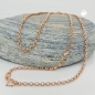 Preview: Kette - Ankerkette - rund - 9Kt Rotgold - 45cm -511023-45