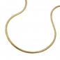 Mobile Preview: Kette 1mm Schlange rund 9Kt GOLD 45cm