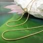 Kette 1mm Schlange 14Kt GOLD 45cm
