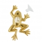 Preview: Suncatcher 87x48mm Frosch mit Glas-Stein -70258