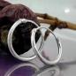 Creolen 13mm Drahtcreole mit Steckverschluss glänzend Silber 925