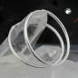 Creolen 25mm Drahtcreole mit Steckverschluss glänzend Silber 925