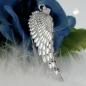 Anhänger 37x12mm Flügel diamantiert rhodiniert Silber 925