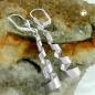 Ohrbrisuren 43x8mm Spirale glänzend Silber 925