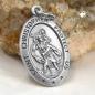 Anhänger 24x16mm Christophorus antik geschwärzt Silber 925