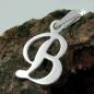 Anhänger 12x10mm Buchstabe B glänzend Silber 925
