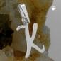 Anhänger 12x10mm Buchstabe K glänzend Silber 925