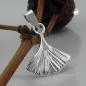 Ginkgoblatt-Anhänger Silber