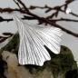 Anhänger 26x27mm Ginkgoblatt glänzend Silber 925