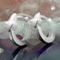 Creolen 10x2mm Klappscharnier kleines Herz matt-glänzend Silber 925