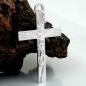 Anhänger 34x21mm Kreuz mit Jesus glänzend Silber 925