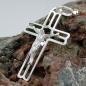 Anhänger 37x23mm Kreuz mit Jesus glänzend Silber 925
