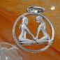 Anhänger 15mm Sternzeichen Zwilling Silber 925