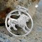 Anhänger 15mm Sternzeichen Löwe Silber 925