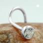 Nasenstecker 3mm Zirkonia weiß mit Spirale Silber 925
