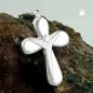 Anhänger 23x15mm Kreuz mit Jesus matt-glänzend Silber 925