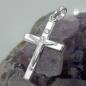 Anhänger 17x11mm Kreuz mit Jesus glänzend Silber 925