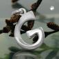 Anhänger 15x9mm Buchstabe G teilmattiert glänzend Silber 925