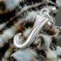 Anhänger 15x6mm Buchstabe J teilmattiert glänzend Silber 925