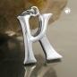 Anhänger 15x11mm Buchstabe K teilmattiert glänzend Silber 925