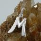 Anhänger 15x13mm Buchstabe M teilmattiert glänzend Silber 925