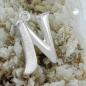 Anhänger 15x12mm Buchstabe N teilmattiert glänzend Silber 925