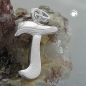 Anhänger 15x11mm Buchstabe T teilmattiert glänzend Silber 925
