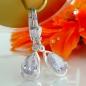 Ohrbrisuren 27x8mm Tropfen Zirkonia lavendel Silber 925