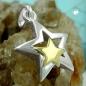 Anhänger 13mm Stern bicolor Silber 925