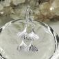 Ohrbrisuren 38x12mm Ginkgo-Blatt doppelt glänzend Silber 925