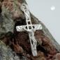 Anhänger 35x22mm Kreuz mit Jesus glänzend Silber 925