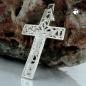 Anhänger 33x20cm Kreuz mit Jesus glänzend Silber, 925