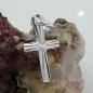 Anhänger 14x7mm Kreuz diamantiert, Silber 925