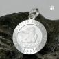 Anhänger 10mm Engel-Taufanhänger mit Schriftzug matt-glänzend Silber 925