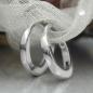 Creolen 11x1,5mm Klappscharnier glatt glänzend rhodiniert Silber 925
