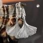 Ohrbrisuren 16x17mm Ginkgo-Blatt glänzend Silber 925