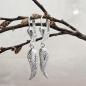 Ohrbrisuren 32x6mm Engelsflügel glänzend Silber 925