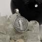 Anhänger 14mm religiöse Medaille Sankt Benedikt Silber 925