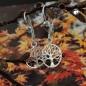 Ohrbrisuren 26x10mm Ohrring Baum des Lebens Silber 925