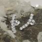 Ohrstecker 16x3mm Bogen mit je 7 Zirkonias weiß Silber 925