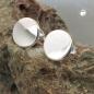 Ohrstecker 8mm rund glänzend Silber 925